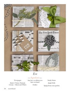 newspaper wrapping - via matchbook mag