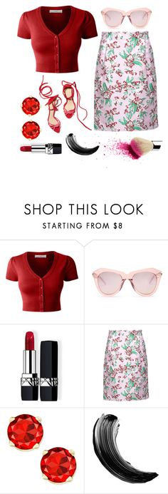 """/girl's got class/ poem in desc."" by broadwaygal13 ❤ liked on Polyvore featuring LE3NO, Karen Walker, Christian Dior and Jonathan Saunders"