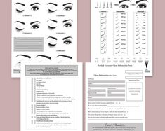 Eyelash Extensions - Custom Client Waiver Lift Patch Test Consent - After Care Lash Map - GDPR - Business Forms - PDF digital add your logo Consent Forms, Lashes Logo, Editing Writing, For Lash, Longer Eyelashes, Pink Marble, Eyelash Extensions, Custom Items, As You Like