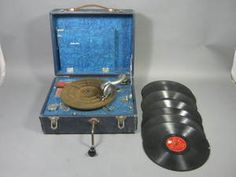 Vtg Antique Sears Silvertone Portable Wind Up Crank 78 Phonograph Record Player | eBay