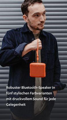 Gehört zum guten Ton. #machlaut #followyoursound ✓ Robuster Bluetooth-Speaker in fünf stylischen Farbvarianten mit druckvollem Sound für jede Gelegenheit ✓ Wasserdicht nach IPX7, gummiertes Gehäuse bietet Schutz vor Stößen ✓ Leistungsstarker Vollbereichs-Treiber und zwei passive Basstreiber im Push-Pull-Prinzip für straffe, hohe Pegel ohne Verzerrungen