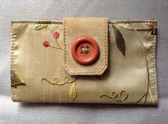 Women wallet in a golden tone. Suede leather by dantescreations, $38.00