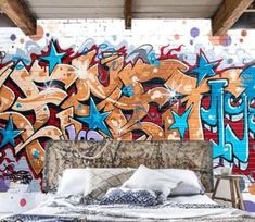 Graffiti Wallpaper, Paper Wallpaper, Self Adhesive Wallpaper, Wall Wallpaper, Custom Wall Murals, 3d Wall Murals, Graffiti Text, Vinyl Doors, Fashion Wallpaper