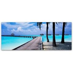 Trademark Fine Art Pathway to Paradise Canvas Art by David Evans, Size: 6 x 19, Multicolor
