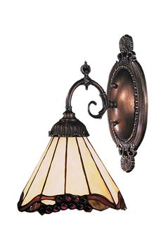 Mix-N-Match 1-Light Sconce in Tiffany Bronze Style 2