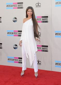 When she looked like a vision in white.   23 Times Zendaya Slayed The Red Carpet