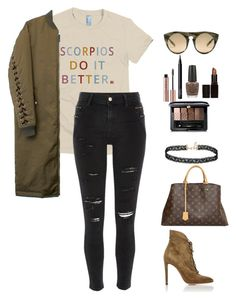 Scorpios Do It Better by birthdaygirlworld on Polyvore featuring River Island, Gianvito Rossi, Louis Vuitton, Miss Selfridge, Alexander Wang, Guerlain, Laura Mercier, NARS Cosmetics and OPI