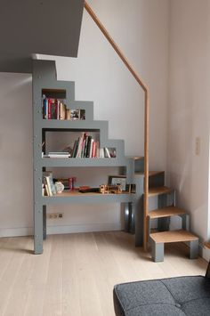 me Ladder For Loft Space Minimalist Wooden Staircase Design For Small