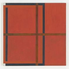 Harvey Quaytman Untitled 1992 acrylic and rust on canvas 28 x 28 inches 71 71 cms via online art museum