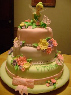 Tinker bell cake 1 by cakes by faby, via Flickr