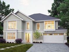 Architecture and design: Australian architecture - Part 2 Facade Design, Exterior Design, Architecture Design, Hamptons Style Homes, Hamptons House, Sims House Design, Modern House Design, House Paint Exterior, Exterior House Colors