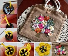 Crochet Button Flowers Lots Of Free Patterns | The WHOot