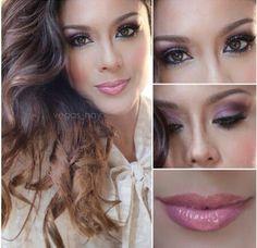 combina el look de hoy con este makeup divino!! muy natural