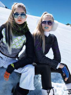 """golden-taste: """"Snow Day"""" Bo Don & Isabel Scholten for Teen Vogue November 2011 Teen Vogue, Moda Ski, Snow Fashion, Winter Fashion, Nordic Fashion, Apres Ski Outfits, Pinned Up, Raymond Meier, Ski Bunnies"""