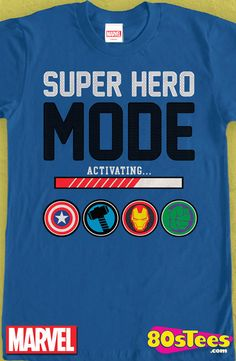 Avengers Super Hero Mode T-Shirt: Marvel Avengers Mens T-Shirt  From films, videos and books this shirt has great design, art and illustration of this celebrity super hero shirt. Add this to your men's fashion collection.
