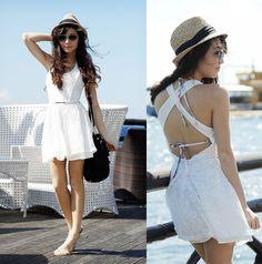 good, summer, white, dress, outdoor, back
