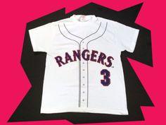 $19.99 TEXAS RANGERS #3 RODRIGUEZ JERSEY PRINT WHITE T-SHIRT SIZE LARGE