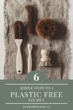 Here's some simple swaps to help you create a plastic free kitchen. Bin Bag, Types Of Plastics, Plastic Packaging, Food Waste, Sustainable Living, Cupboards, Food Preparation, Mason Jars, Bathroom