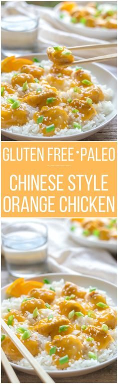 Gluten Free Chinese Orange Chicken with Paleo Option - An easy Weeknight family supper with just a few simple ingredients!