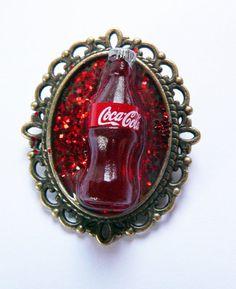 Kitsch retro cocacola brooch by VirtuallyVintagebyK on Etsy