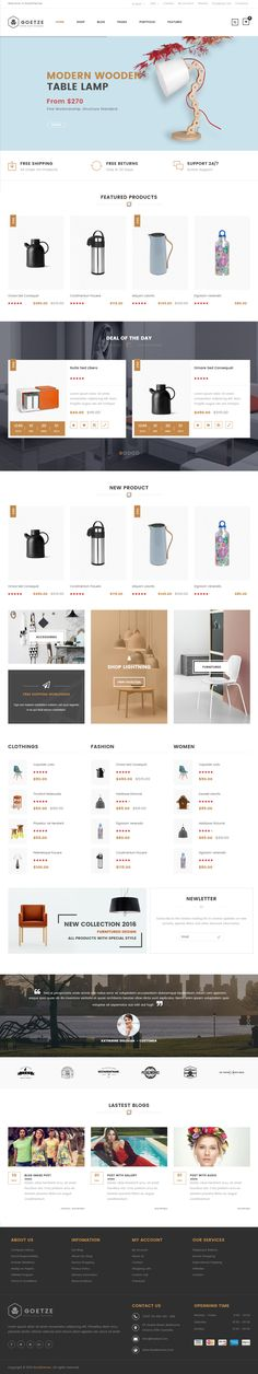 Goetze is Premium full Responsive Retina #WordPress eCommerce Theme. If you like this #WooCommerce Theme visit our handpicked list of best #WooCommerceThemes at: http://www.responsivemiracle.com/best-wordpress-woocommerce-themes/