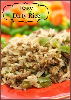 Easy Dirty Rice is on the table in less than 30 minutes and the taste will be a HUGE hit! Easy Dirty Rice is on the table in less than 30 minutes and the taste will be a HUGE hit! Beef Dishes, Rice Dishes, Food Dishes, Cajun Recipes, Cooking Recipes, Healthy Recipes, Stevia Recipes, Healthy Rice, Grilling Recipes
