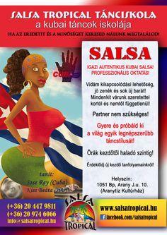 kubai salsa tanfolyamok a Salsa Tropical tánciskolában. Erdeti, autentikus, kubai tanártól. www.salsatropical.hu