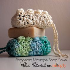 Pampering Massage Crochet Soap Saver. Video Tutorial.