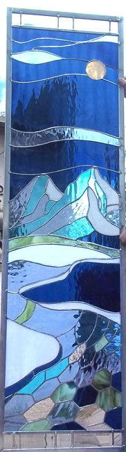 Stained Glass WIndow Crystal Mountains by stainedglassfusion, $599.00 - Picmia
