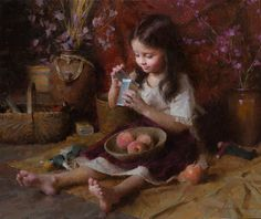"Morgan Weistling Hand Signed and Numbered Limited Edition Canvas Giclee:""Curious Emily"" - New Arrivals"