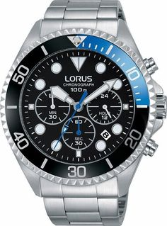 LORUS Chronograph »RT315GX9« für 99,00€. Sportiver Chronograph für Herren, Gehäuse aus Edelstahl, Ø ca. 45 mm, Armband aus Edelstahl bei OTTO