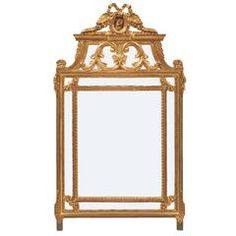 French Louis XVI Gold Leaf Mirror