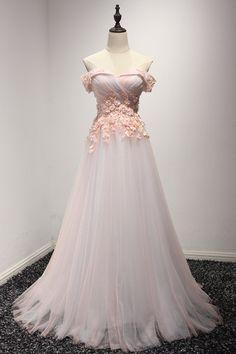 Top Beautiful Flowers A-Line Bridal Gown Sexy Off Shoulder Tulle Wedding Dress Romantic Beach Dress 2017 Prom Dress Long Women Evening Gown