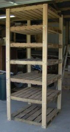 Wood palate shelves~