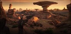 Desert canyon - Matte painting - 3DTotal Forums