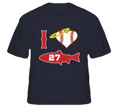 Youth I Love Mike Trout Baseball T-Shirt