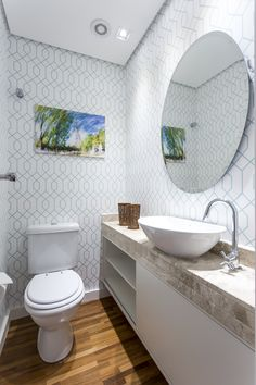 Papel de parede colorido lavabo