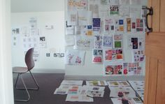 Brainstorming at the Brown Dog studio.