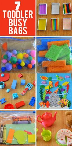 7 Busy Bag Ideas for Toddlers Simple to make and fun to play your toddler will love these busy bag activity ideas. The post 7 Busy Bag Ideas for Toddlers appeared first on Toddlers Diy. Toddler Busy Bags, Toddler Play, Toddler Learning, Baby Play, Toddler Crafts, Crafts For Kids, Toddler Games, Infant Activities, Preschool Activities
