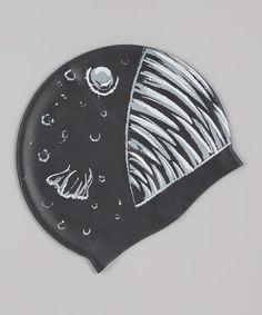 Black Angler Swim Cap