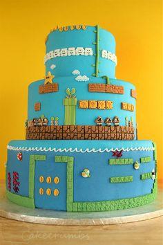 Pastel de Super Mario Bros en niveles