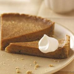 Sweet Potato Tart Recipe from Taste of Home. -- You'd never guess this trimmed-down tart, with its homemade pecan crust and creamy filling, is light. —Kate Gaudry, La Jolla, California
