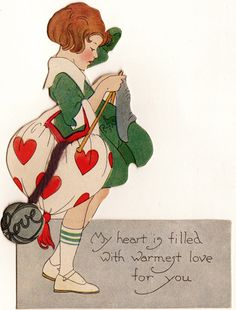 Knitter's vintage valentine