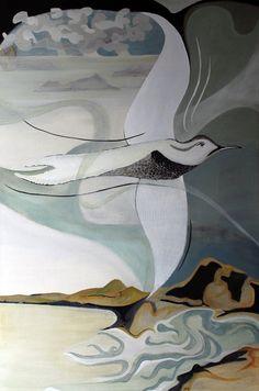 On high Acrylic on canvas 90 x 60cm