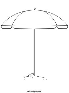 Shovel coloring page summer pinterest coloring for Beach umbrella coloring pages