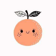 This would be a fun print to hang in the bedroom. Fruit Illustration, Simple Illustration, Character Illustration, Illustration Techniques, Kawaii Doodles, Cute Fruit, Dibujos Cute, Illustrations, Cute Pictures