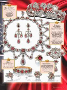 Fascinating!  Queen Ingrid and Crown Princess Mary: Danish Ruby Parure | The Passion For Fashion  Beauty | The Danish Royal Family and the jewellery they possess is steeped in the history and tradition of centuries and time. The historic Danish Ruby Parure, which used to be owned by Queen Ingrid of Denmark, is now worn by Mary, Crown Princess of Denmark.  An interesting read ...