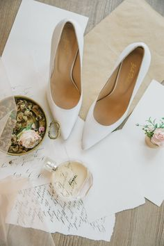 Your wedding day one of the most imoprtant days of your life. Pink Wedding Shoes, Wedding Boots, Wedding Heels, Wedding White, Green Wedding, Bridal Flats, Star Shoes, White Heels, Bride Shoes