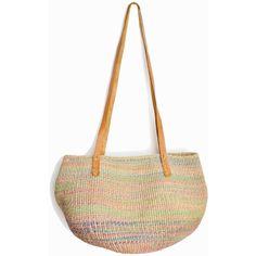 Vintage Jute Market Tote Bag Leather Strap Straw Bag Boho Jute Purse ($44) ❤ liked on Polyvore featuring bags, handbags, tote bags, white purse, jute tote, straw handbags, hand bags and woven tote