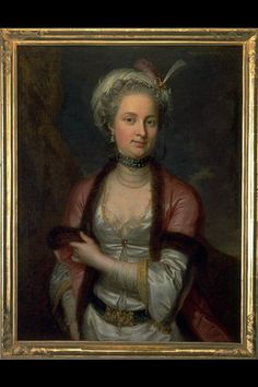 Portrait of a Lady, Margaret Hoff born in Steiger of Berne by Emanuel Handmann, 1766. Swiss National Museum, Zurich 1996 ', in number 946
